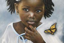 Artes de Dora Alis Mera Velasco / Pintora Colombiana, reproduz com maestria retratos da Inocencia. Lindo!