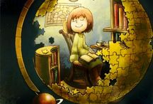 Clip-art (books, reading)