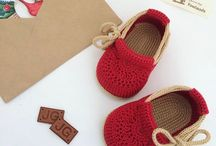 Sapato bebe croche