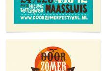 Festival typography