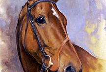 Race Horses In Art 07B- Cheltenham Gold Cup & Grand National Winners / Except Desert Orchid, Kauto Star and Denman, who have their own boards.