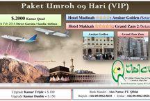 Paket Umroh Februari 2018 / Paket Umroh Murah Februari 2018, Harga Promo Rp 18 Jt All In Fly Saudia Airlines | Rp 20 Jt All In Fly Garuda Indonesia. Hotel Bintang 3 Dekat.
