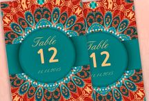 TABLE NUMBER CARDS {products} / Table number cards for wedding receptions, dinner party, reunion gathering, and all special occasions. Alternative style designs for those seeking something different.