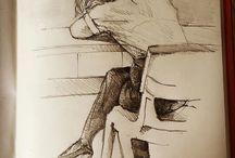 my work Days end #drawing #sketchbook #sketch @apco360 @blackwing