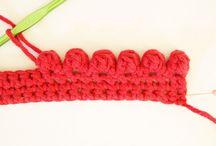 terminaciones y bordes crochet