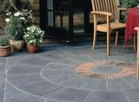 Grey Paving Slabs / A selection of our grey natural stone and concrete paving slabs. #GreyPavingSlabs