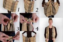 Ways of tieing scarf