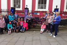 Yarn bomb Haverfordwest 2015 / A group of women came together to knit and crochet , to yarn bomb Haverfordwest !! the County town of Pembrokeshire