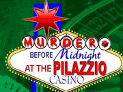 Murder Before Midnight at the Pilazzio Casino - Murder Mystery Party / A Celebrity Themed Casino Murder Mystery in a Las Vegas setting for 8-18 guests, ages 14+. Get ready for a hilarious celebrity-themed murder mystery party game set in glamorous Las Vegas!