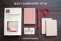 DIY - modern embroidery / embelishments / sashiko inspiration