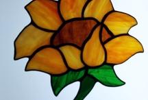 Mooie oranje gele bloem / Raamhanger