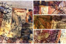 Textile Art and Eco prints/Natural Dying. Spiders, moths and eco prints / Things that I enjoy making