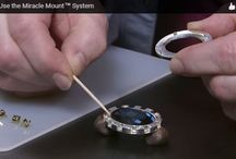 Miracle Mount Designs / Decoratively framing fancy stones this system gives jewelry-maker's free rein to creatively add tile and loop pegs as desired for any style of jewelry. / by Fire Mountain Gems and Beads