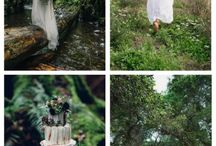 Woodland Wedding / colors - copper, gold, emerald, white, brown