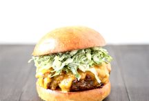 Burger and sandwich / Homemade burger and sandwich