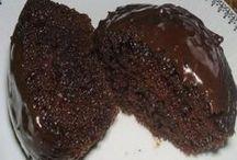 bolos de chocolate