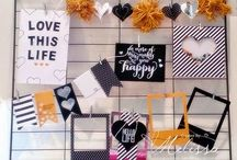 Hello Life - Monthly Interchangeable Home Decor / Stampin' Up! Hello Life project kit - monthly interchangeable ideas