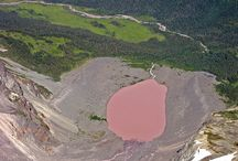 Pink Lakes / There are some 10 red- or pink-color lakes in the planet. Here are a few. / by Enid Morales