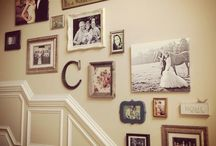 photo wall stairs