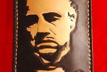 Marlon Brando Phone cover veg tan leather , custom