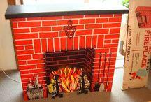 fake fireplace / for christmas