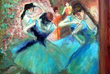 degas: danseuses bleues
