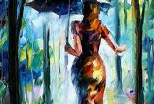 πινακες με ομπρελες
