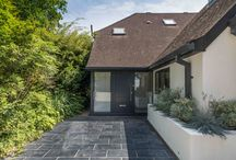 Modern Two Storey Rendered Extension to Marina Property