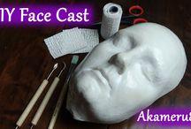 DIY: Face/body/etc casting/mold / using plaster of paris, resin, etc...