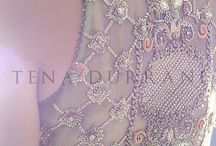 Embroidery for French curve