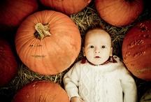 babies at the pumpkin patch