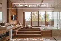 Banheiros para Casais!!! Veja Dicas para Planejar o Seu!!! / Veja + Inspirações e Dicas de decoração no blog!  www.construindominhacasaclean.com