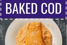 Baked lemon Cod