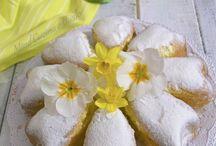 torta con petali di margherita