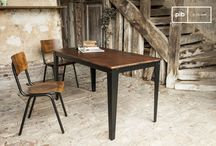 The dining table / The dining table is the main focus of every dining room. Choose among a vaste range of possible styles and models.  Industrial tables, Scandinavian dining tables and much more
