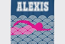 Swimming Rooms for Girls / Swimming themed bedrooms for girls and teens.  Duvet cover bedding sets, throw pillows, wall art prints, gallery wrapped canvases, shower curtains for female swimmers.