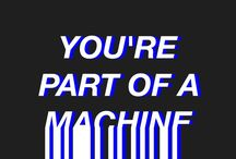 Machine / at what point do we stop being human? at what point do they stop being machines?