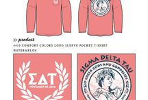 Sigma Delta Tau / Sigma Delta Tau custom shirt designs #sigmadeltatau #sdt  For more information on screen printing or to get a proof for your next shirt order, visit www.jcgapparel.com