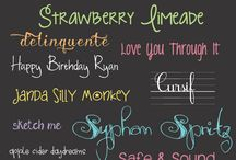Printables and Fonts / by Wendy Lau