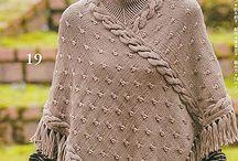 pončo - pletené,háčkované