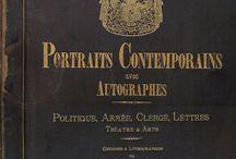 Portraits contemporains avec autographes : Politique, armée, clergé, lettres, théatres & arts / Album, Bukarest, 1881