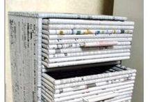 móveis com jornal