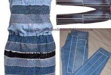 Шьём из старых джинсов
