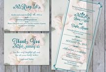 Wedding Invitations / Elegant wedding invitations with rsvp and thank you cards