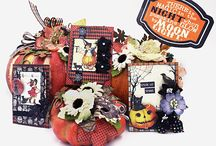 Halloween Projects - Home Decor,  Cards, Tags, Scrapbook pages / Halloween fun!  Treat bags, cards, tags, memory pages, all things spooky !