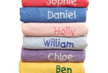 Personalised Towels / Quality personalised towels for home and the beach