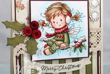 Cards - Colouring Stamps - Christmas