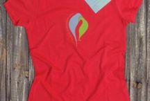 Echo / T-shirt poétique en coton bio collection été 2014. Existe en ibiscus, kaki, azur et violet