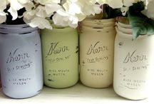 Mason Jar Madness ;) / All things you can do with mason jars...plus some!  Who knew this simple item could be so chic? xoxo