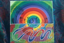 Rainbow Serpent Ideas / We are working on an artwork made of tiles to mount on the exterior of our building.